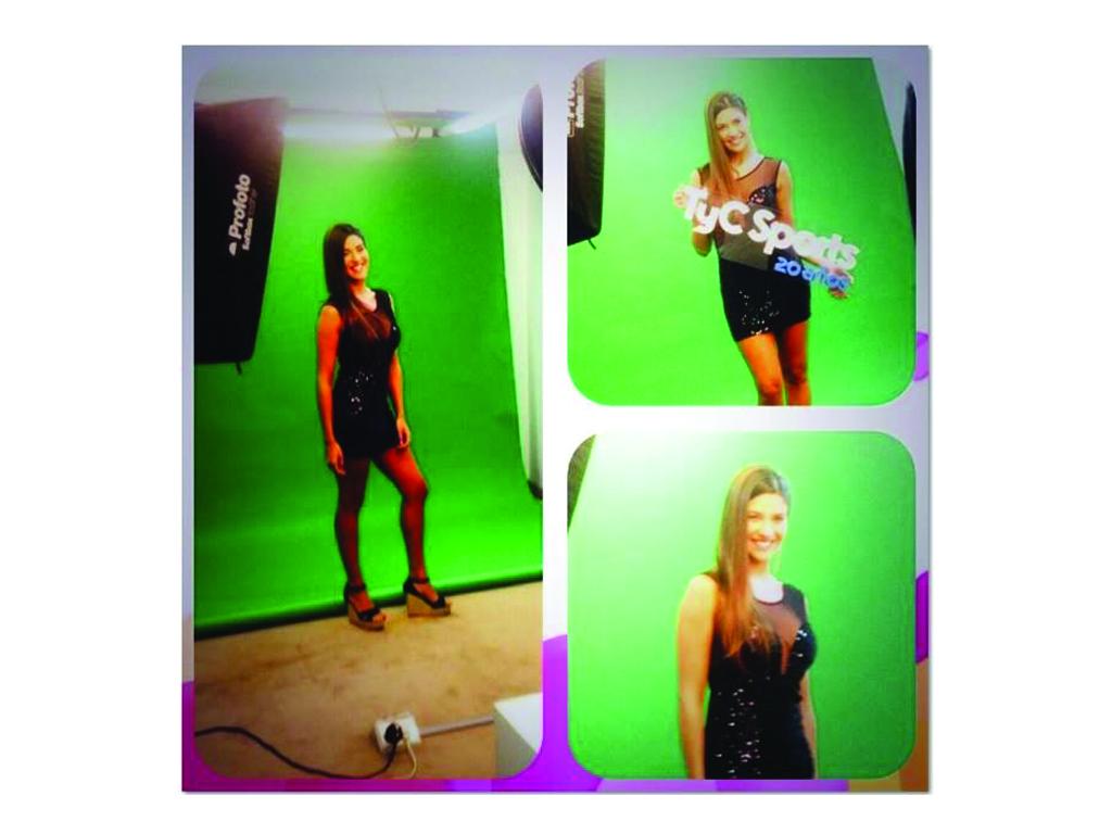 Ivana Nadal uso las sandalias de Zekos para el día de shooting de tiempoextratyc