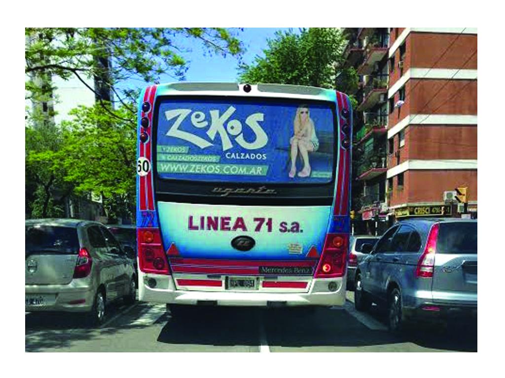 Campaña en transporte, linea 71, año 2013